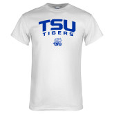 White T Shirt-Arched TSU Tigers