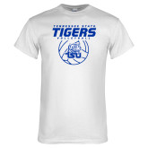 White T Shirt-Tennessee State Tigers Volleyball Stacked