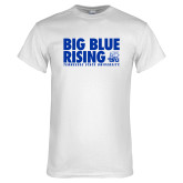 White T Shirt-Big Blue Rising
