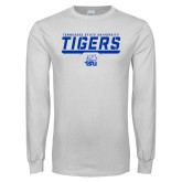 White Long Sleeve T Shirt-Tennessee State University Tigers Stencil