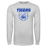 White Long Sleeve T Shirt-Tennessee State Tigers Volleyball Stacked