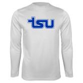 Performance White Longsleeve Shirt-TSU