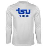 Performance White Longsleeve Shirt-Football