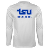 Syntrel Performance White Longsleeve Shirt-Basketball