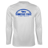 Syntrel Performance White Longsleeve Shirt-Tennessee State Football w/ Ball