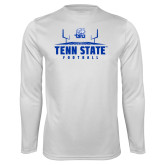 Syntrel Performance White Longsleeve Shirt-Tenn State Football w/ Field