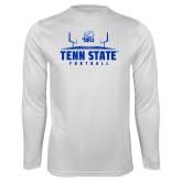 Performance White Longsleeve Shirt-Tenn State Football w/ Field