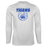 Syntrel Performance White Longsleeve Shirt-Tennessee State Tigers Volleyball Stacked