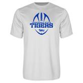 Performance White Tee-Tennessee State Tigers Football w/ Vertical Ball