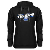 Adidas Climawarm Black Team Issue Hoodie-Tigers Slanted w/ Logo