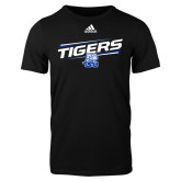 Adidas Black Logo T Shirt-Tigers Slanted w/ Logo