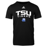Adidas Black Logo T Shirt-Arched TSU Tigers