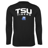 Performance Black Longsleeve Shirt-Arched TSU Tigers