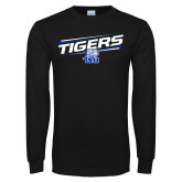 Black Long Sleeve TShirt-Tigers Slanted w/ Logo