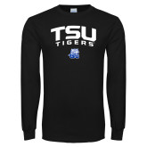 Black Long Sleeve TShirt-Arched TSU Tigers