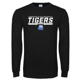 Black Long Sleeve TShirt-Tennessee State University Tigers Stencil