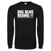 Black Long Sleeve TShirt-Big Blue Rising