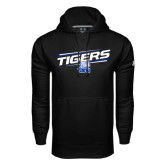 Under Armour Black Performance Sweats Team Hood-Tigers Slanted w/ Logo