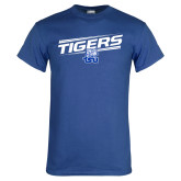 Royal T Shirt-Tigers Slanted w/ Logo
