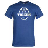 Royal T Shirt-Tennessee State Tigers Football w/ Vertical Ball