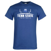 Royal T Shirt-Tenn State Football w/ Field