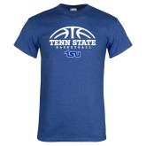 Royal T Shirt-Tenn State Basketball w/ Half Ball