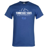 Royal T Shirt-Tennessee State Volleyball Half Ball