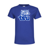 Youth Royal Blue T Shirt-Official Logo