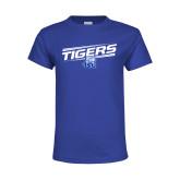 Youth Royal T Shirt-Tigers Slanted w/ Logo