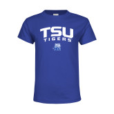 Youth Royal Blue T Shirt-Arched TSU Tigers