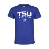 Youth Royal T Shirt-Arched TSU Tigers