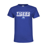 Youth Royal T Shirt-Tennessee State University Tigers Stencil