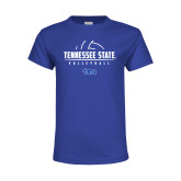 Youth Royal Blue T Shirt-Tennessee State Volleyball Half Ball