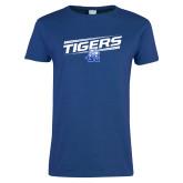 Ladies Royal T Shirt-Tigers Slanted w/ Logo