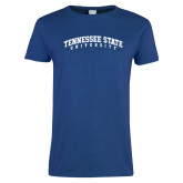 Ladies Royal T Shirt-Arched Tennessee State University