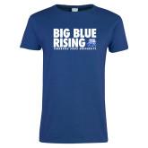 Ladies Royal T Shirt-Big Blue Rising