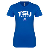 Next Level Ladies Softstyle Junior Fitted Royal Tee-Arched TSU Tigers
