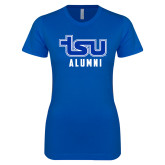 Next Level Ladies Softstyle Junior Fitted Royal Tee-Alumni