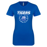 Next Level Ladies Softstyle Junior Fitted Royal Tee-Tennessee State Tigers Volleyball Stacked