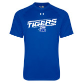 Under Armour Royal Tech Tee-Tigers Slanted w/ Logo