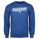 Royal Fleece Crew-Tigers Slanted w/ Logo