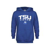 Youth Royal Fleece Hood-Arched TSU Tigers
