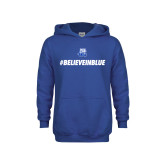 Youth Royal Fleece Hood-#BelieveInBlue