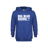 Youth Royal Fleece Hood-Big Blue Rising