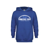Youth Royal Fleece Hoodie-Tennessee State Football w/ Ball