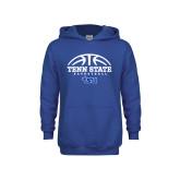 Youth Royal Fleece Hoodie-Tenn State Basketball w/ Half Ball