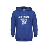 Youth Royal Fleece Hoodie-TSU Tigers Basketball w/ Hanging Net