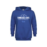 Youth Royal Fleece Hoodie-Tennessee State Volleyball Half Ball