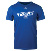 Adidas Royal Logo T Shirt-Tigers Slanted w/ Logo