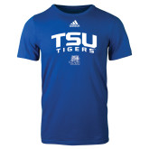 Adidas Royal Logo T Shirt-Arched TSU Tigers